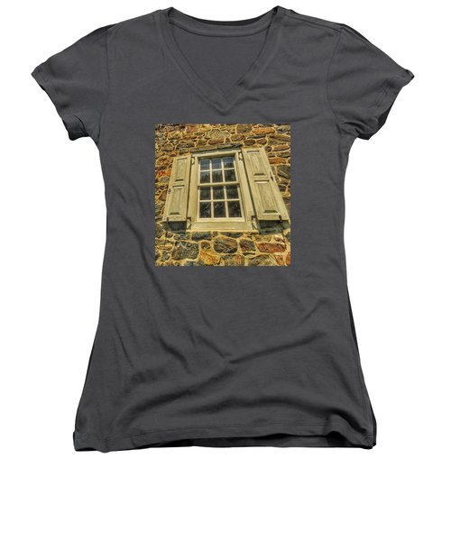 Bricks And Mortar I Women's V-Neck T-Shirt