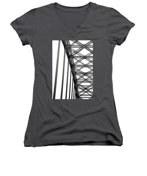 Bridge Women's V-Neck T-Shirt (Junior Cut) by Brian Jones