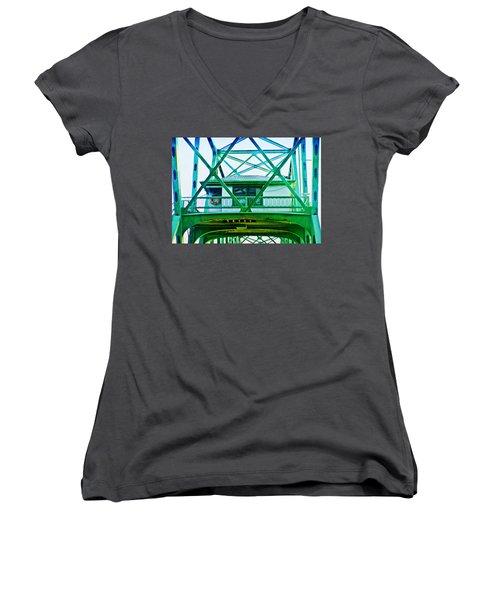 Bridge House Women's V-Neck T-Shirt (Junior Cut) by Adria Trail