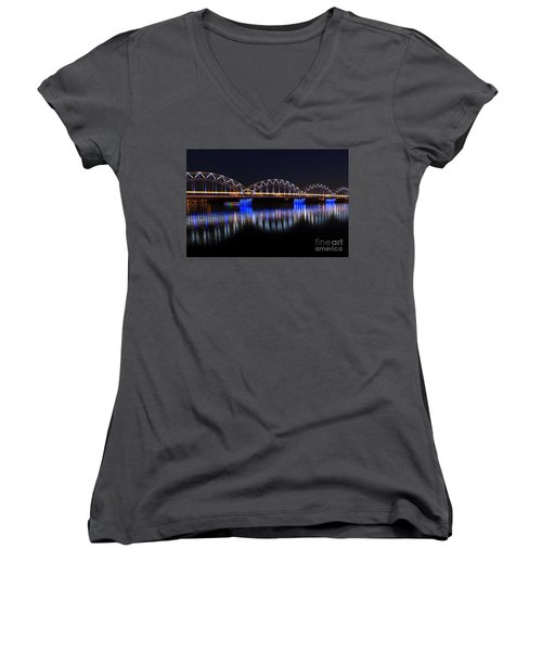Bridge In Riga  Women's V-Neck