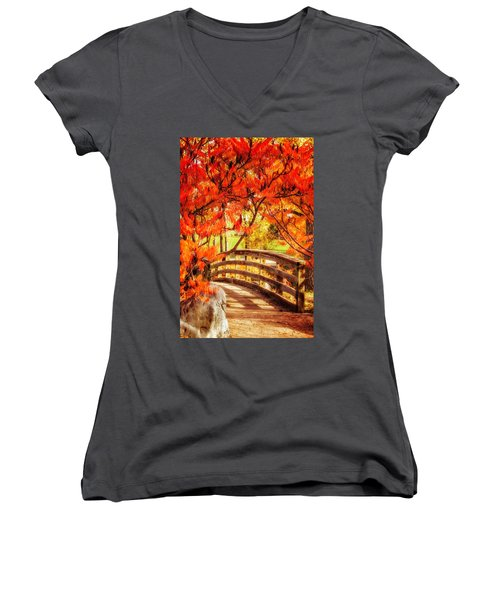 Bridge Of Fall Women's V-Neck (Athletic Fit)