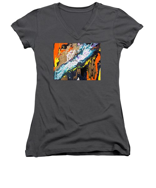 Bridge Women's V-Neck T-Shirt (Junior Cut) by Ralph White