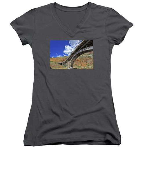 Bridge To Yesteryear Women's V-Neck