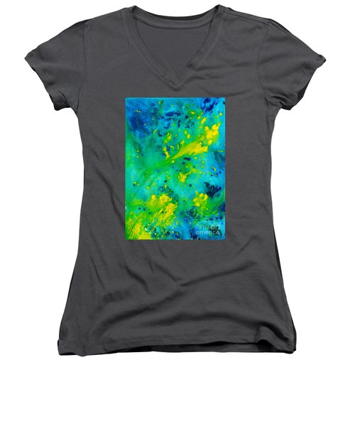 Bright Day In Nature Women's V-Neck (Athletic Fit)