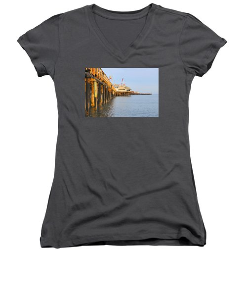 Bright Stearns Wharf Women's V-Neck (Athletic Fit)