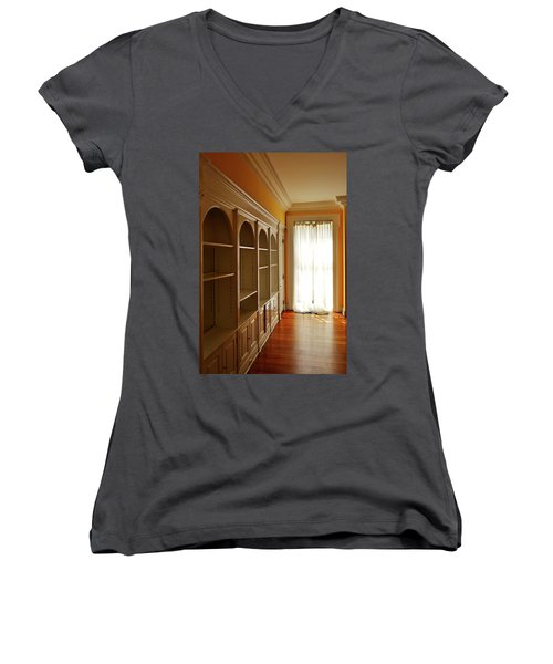 Bright Window Women's V-Neck T-Shirt (Junior Cut) by Zawhaus Photography