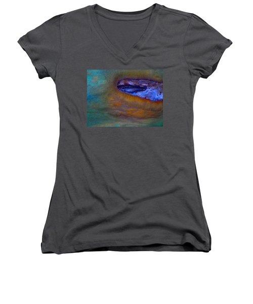 Brighter Days Women's V-Neck T-Shirt (Junior Cut) by Richard Laeton