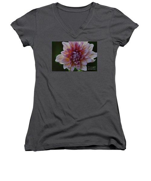 Brilliance Of A Dahlia Women's V-Neck T-Shirt
