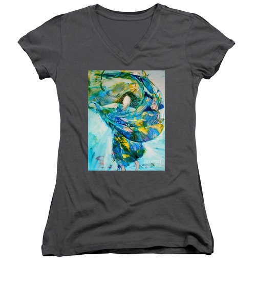 Bringing Heaven To Earth Women's V-Neck (Athletic Fit)