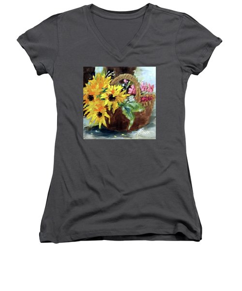 Bringing In The Sunshine  Women's V-Neck (Athletic Fit)