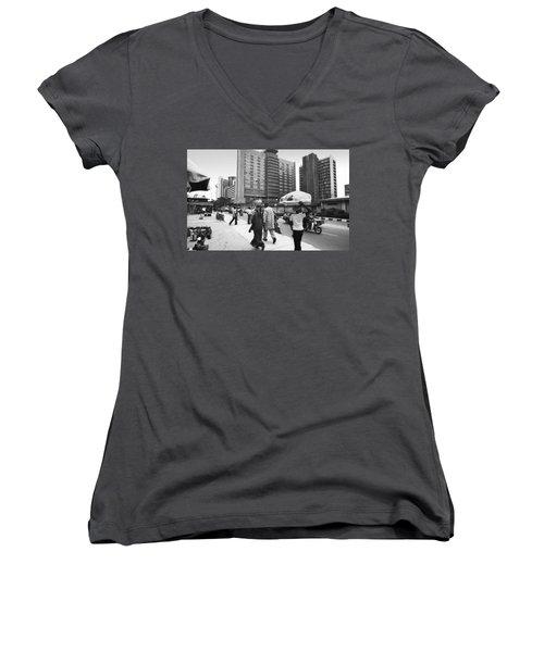 Broad Street -- Fmbn Women's V-Neck (Athletic Fit)