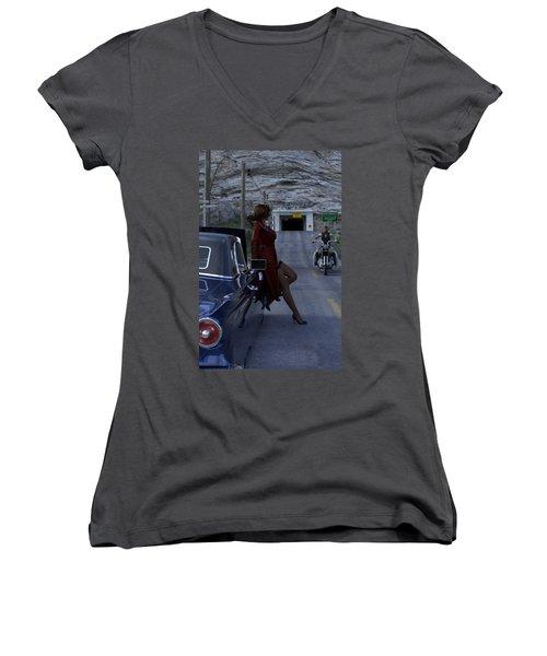 Broken Down Women's V-Neck T-Shirt
