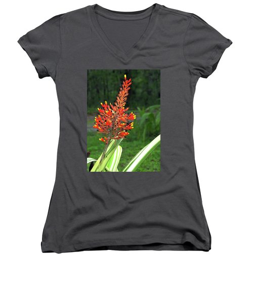 Bromeliad Women's V-Neck (Athletic Fit)