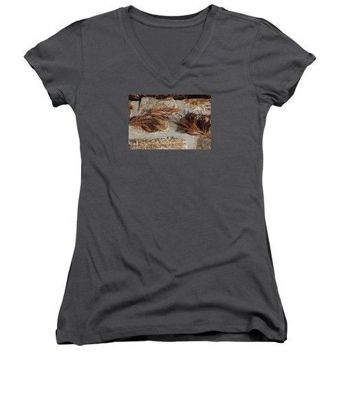 Bronze Symmetry Women's V-Neck T-Shirt (Junior Cut) by Deborah  Crew-Johnson