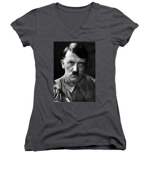 Brooding Portrait Of Adolf Hitler Heinrich Hoffman Photo Circa 1935 Women's V-Neck