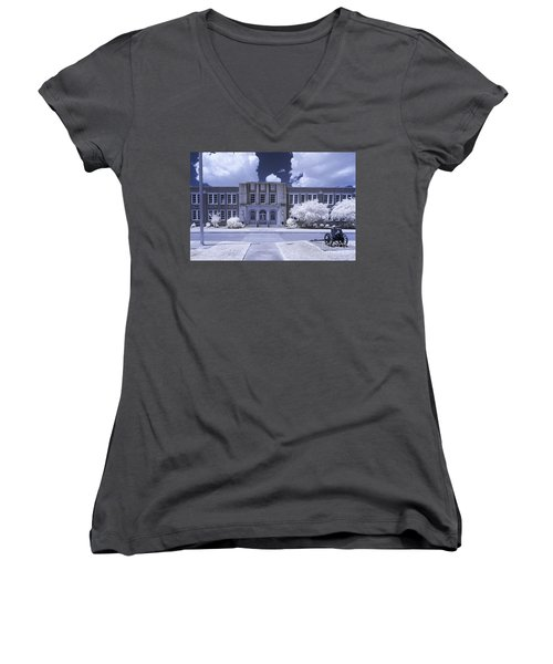 Brookland-cayce Hs-ir Women's V-Neck T-Shirt (Junior Cut) by Charles Hite