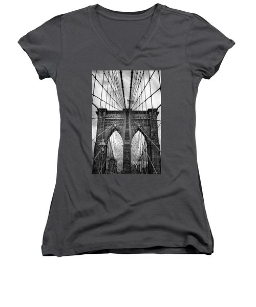 Brooklyn Bridge Mood Women's V-Neck