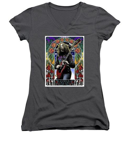 Brother Duane Women's V-Neck T-Shirt (Junior Cut) by Gary Kroman