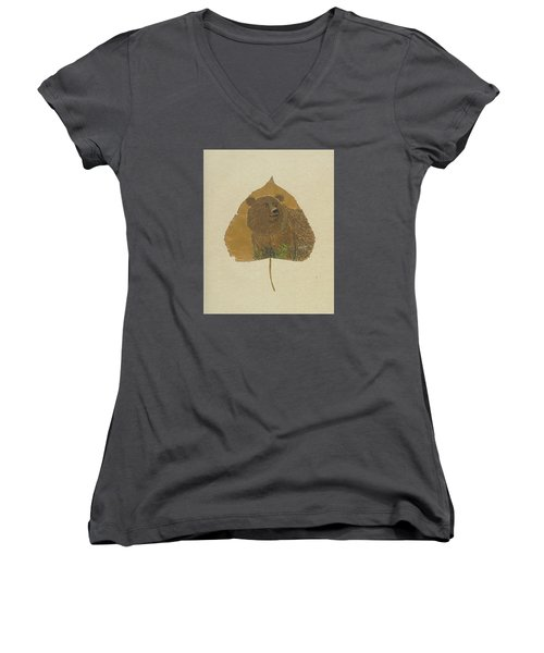 Brow Bear #2 Women's V-Neck (Athletic Fit)
