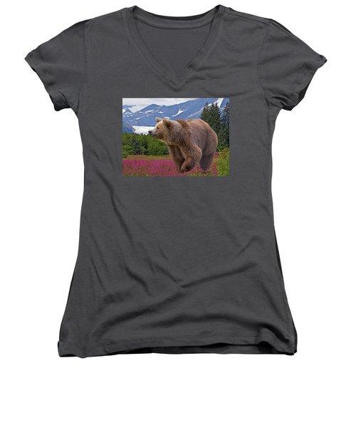 Brown Bear 2 Women's V-Neck