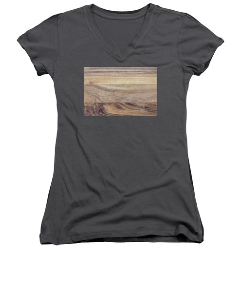 Brown Rubber Wooden Tray Handmade In Asia Women's V-Neck T-Shirt (Junior Cut) by Jingjits Photography