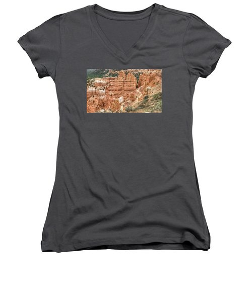 Bryce Canyon Women's V-Neck T-Shirt (Junior Cut) by Geraldine Alexander