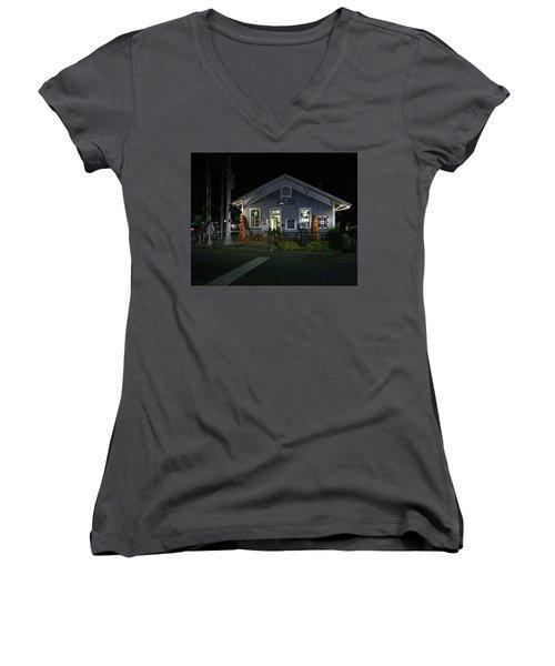 Bryson City Train Station Women's V-Neck T-Shirt