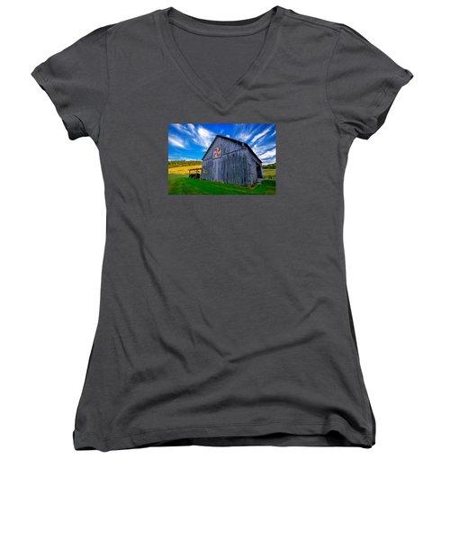 Buckeye Barn 2 Women's V-Neck T-Shirt