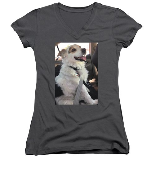 Buckle Up Women's V-Neck T-Shirt