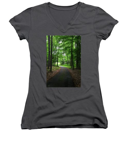 Buckner Farm Path Women's V-Neck T-Shirt