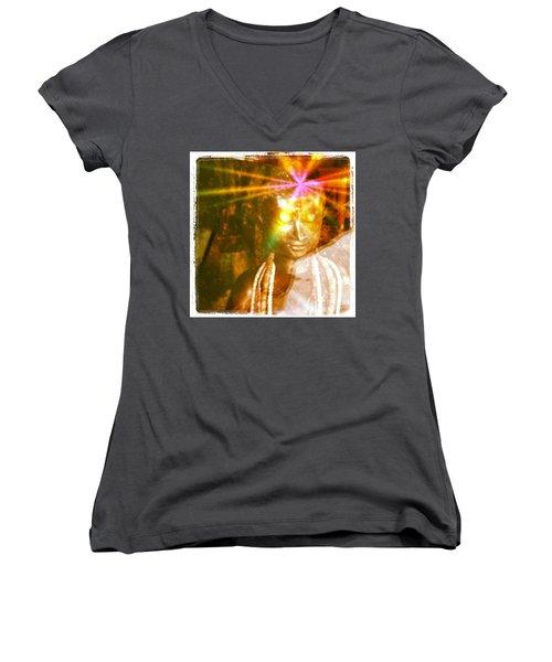 Buddha Light Women's V-Neck T-Shirt
