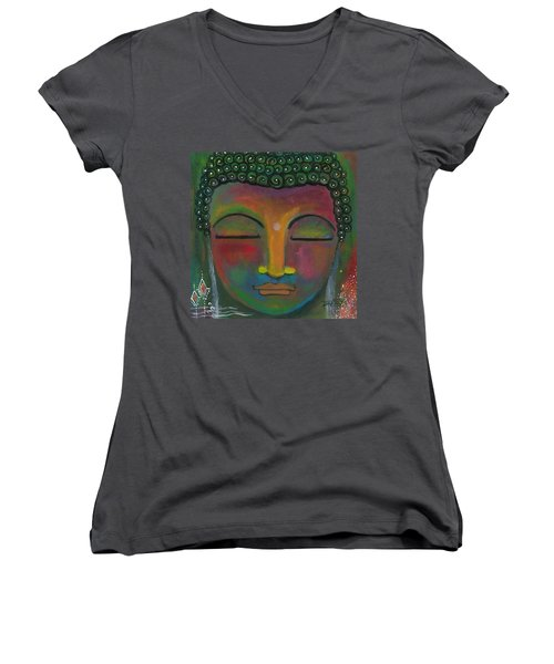 Buddha Painting Women's V-Neck