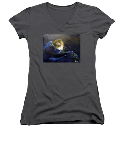 Buddy Rest In Peace Women's V-Neck (Athletic Fit)