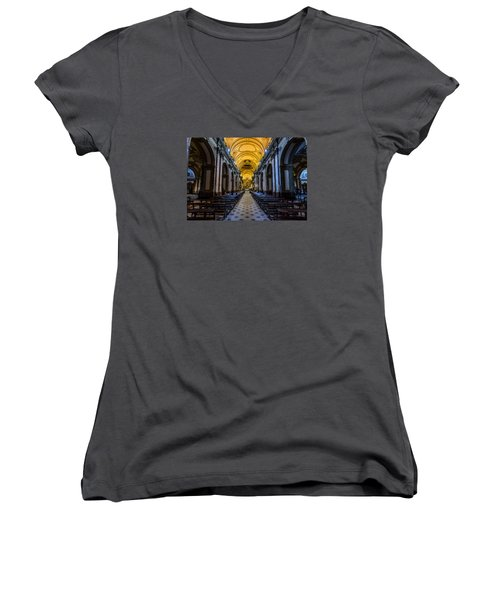 Buenos Aires Metropolitan Cathedral Women's V-Neck T-Shirt
