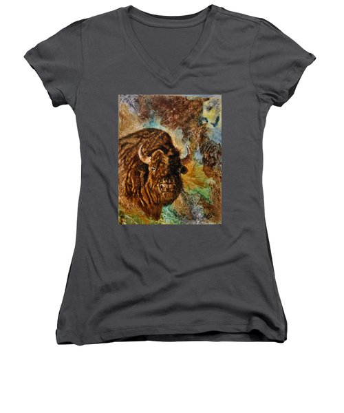 Buffalo Women's V-Neck T-Shirt