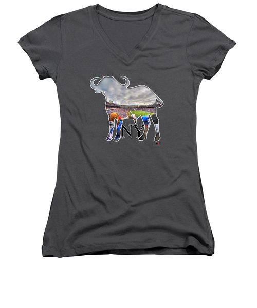 Buffalo Ny Bills Game Women's V-Neck T-Shirt