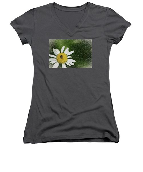 Women's V-Neck T-Shirt (Junior Cut) featuring the digital art Bug Out by Terry Cork