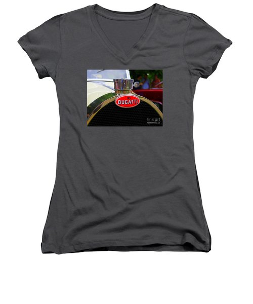 Bugatti Red Women's V-Neck (Athletic Fit)