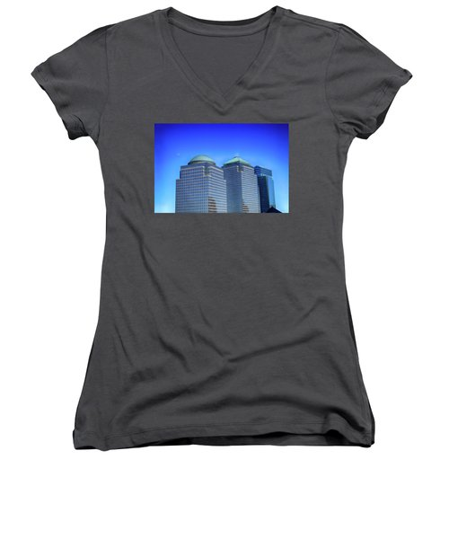 Buildings 2,3,4 In New York's Financial District Women's V-Neck (Athletic Fit)