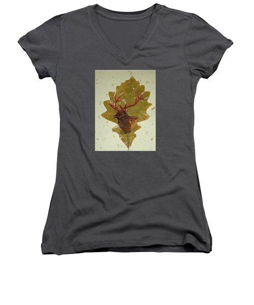 Bull Elk Women's V-Neck T-Shirt