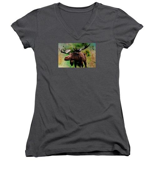 Bull Moose Women's V-Neck T-Shirt