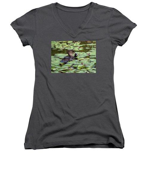 Bullfrog For Breakfast Women's V-Neck T-Shirt