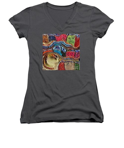 Women's V-Neck T-Shirt (Junior Cut) featuring the photograph Bumps In The Road by Kathie Chicoine