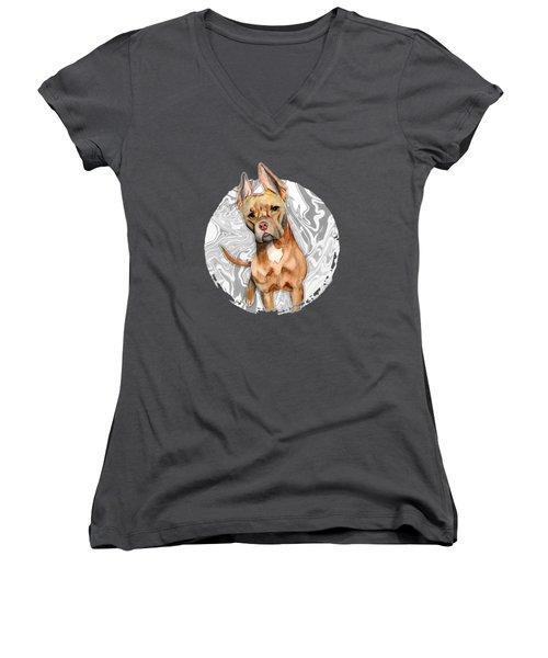 Bunny Ears 4 Women's V-Neck T-Shirt