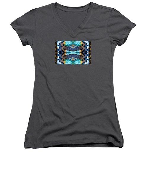 Burberry N83 V3 Women's V-Neck T-Shirt (Junior Cut) by Raymond Kunst