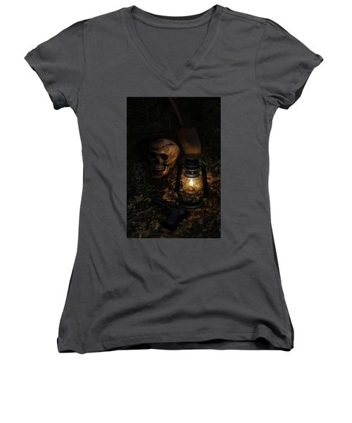 Buried Women's V-Neck (Athletic Fit)
