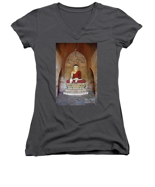 Burma_d2078 Women's V-Neck T-Shirt