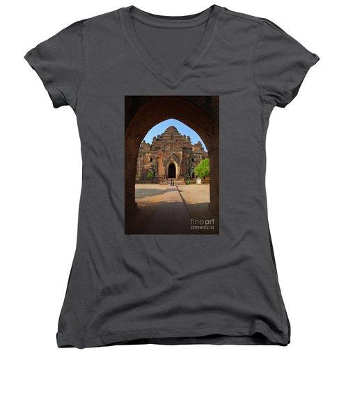 Burma_d2095 Women's V-Neck T-Shirt (Junior Cut) by Craig Lovell