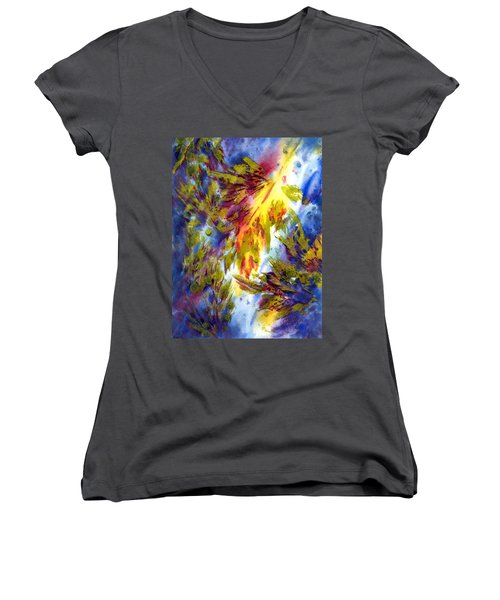 Burst Of Fall Women's V-Neck T-Shirt