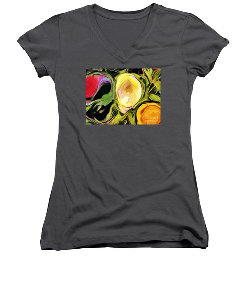 Women's V-Neck T-Shirt (Junior Cut) featuring the photograph Three Sisters by Kathie Chicoine